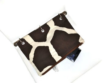 Binder Pencil Case Giraffe Patterned Pencil Pouch for 3 Ring Binder  Ready to Ship Organize School Supplies Gift Kids