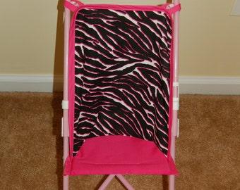 Hot Pink Zebra Doll Stroller Seat