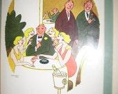 VINTAGE The NEW YORKER Art by Cartoonist Gardner Rea Framed Matted Investments Stocks Adult Humor