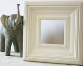 Sizes 4x4 to 8x8 Wood Picture Frame / Whistler Style / White, Black, Gray, Brown