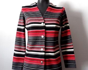 Vintage 1970s Striped Cardigan size Medium by Jack Winter