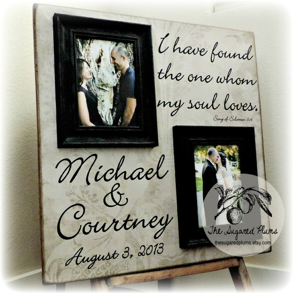 Wedding Gifts Picture Frames : Personalized Picture Frame Wedding Gift Custom 20x20 I HAVE FOUND ...