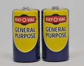 ELECTRONICS, Size C Vintage Ray O Vac Batteries
