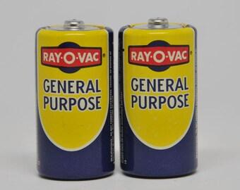 ELECTRONICS, Size C Vintage Ray O Vac Batteries