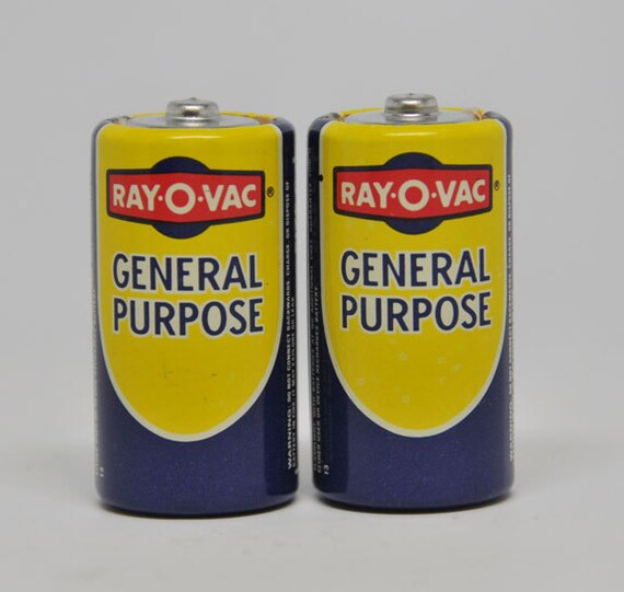 Batteries Near Me >> ELECTRONICS Size C Vintage Ray O Vac Batteries