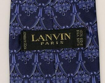 Vintage Lanvin Tie royal blue