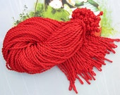 20 pcs Red necklace cords,18-20 inch 4mm Red twist necklace cord with loop and knot
