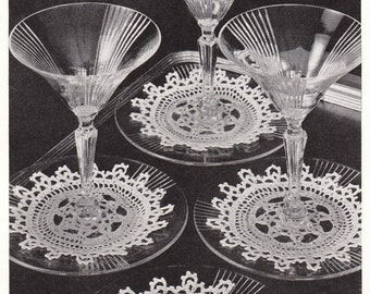 Chic Circles Crochet Small Doilies Pattern, c. 1942 Instant Download