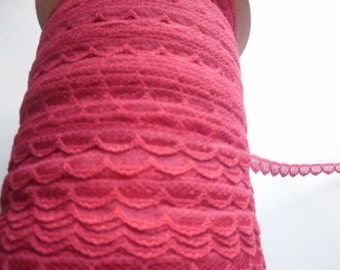 Lace Lingerie Doll Slips and More 3/8 inch Red Scalloped Edge 5 yds 1751