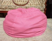 Hot Pink with White Polka Dot Bean Bag Chair Cover, Pink, Candy Pink, Etsy Kids, Gift Under 75