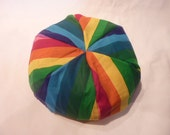 American Girl Doll Bean Bag Chair - Rainbow - 18 inch doll, Purple, Blue, Pink, Orange, Green, Yellow, Etsy Kids, Gift under 15