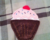 Large Cupcake Hair Clip