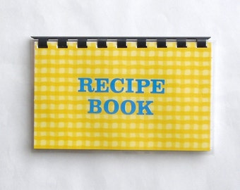 "Handmade ""Recipe Book"" Blank Recipe Book"
