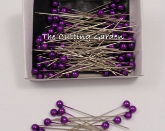 "Corsage / Boutonniere Pins Pearl Purple 2"" pk/144"