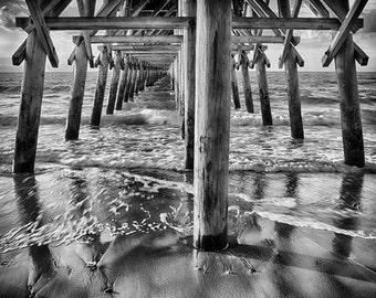 Myrtle Beach Print, South Carolina Photo Art Print, 2nd Ave Pier