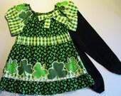 18-24 Months, Dress Her in Green for St. Patrick's Day! Peasant Dress
