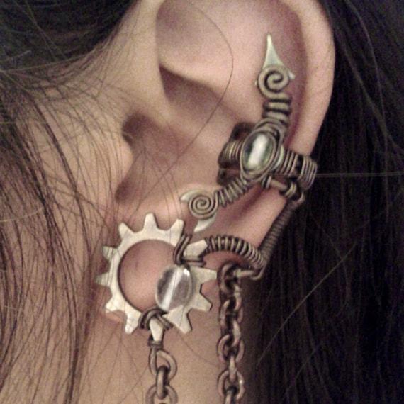 Crystal Alchemist Ear Cuff