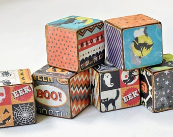 Celebrate Halloween Decorative wooden Blocks