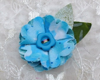 Fabric Flower Hairclip Little Girls Hair Accessory Fashion and Boutique Cotton Fabric Flower