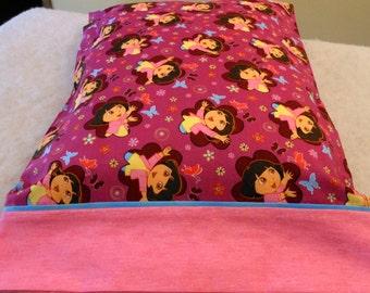 Pillowcase Dora the Explorer on Fuchia