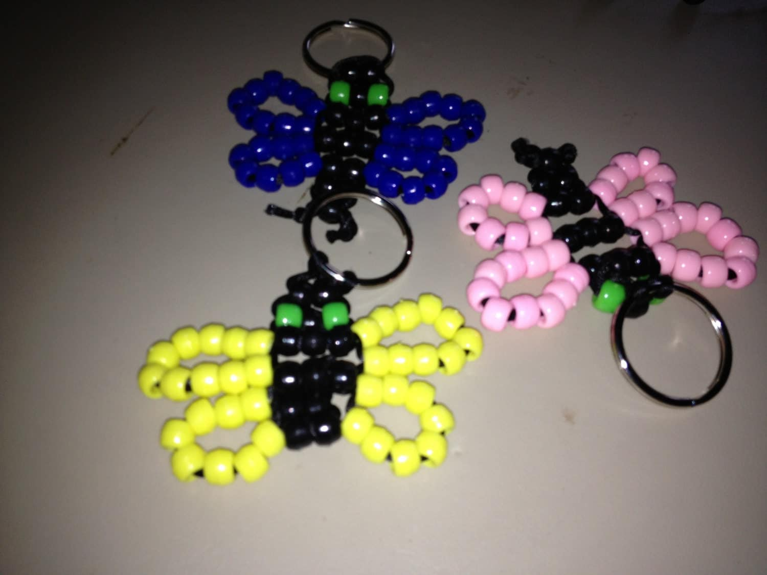 butterfly keychain butterfly keyring beaded by