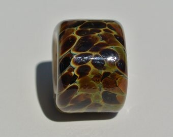 Lampwork Bead to fit Regaliz Leather - Tortoise Shell