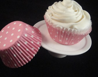 Baby Pink with White Polka Dots Cupcake Liners