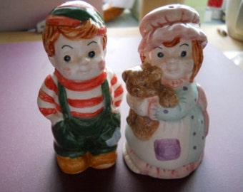 Boy and Girl Salt and Pepper shakers - collectible, vintage