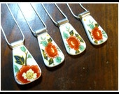 Custom Order RECYCLED BROKEN CHINA Plate Jewelry - Reserved for Jennifer R