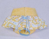 Female Pet  Dog Diaper Pet Wrap  Skirted Panties Britches Size XSmall To  XLarge Yellow Daisy  Skirt