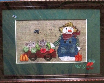 North Pole Farmers Market - Mayberry Designs - Cross Stitch Chart