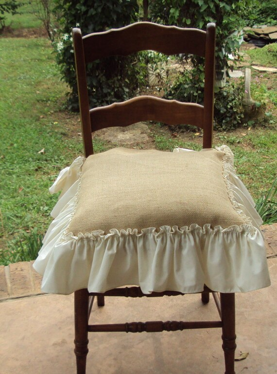 Rustic Burlap Kitchen Dinning Room Dressing Table Chair