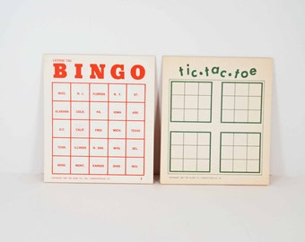 License Tag  Bingo and Tic Tac Toe games for travel party or rainy day