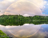 Full Rainbow and Reflection  Print