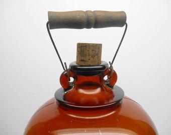 Vintage Large Amber Glass Bottle