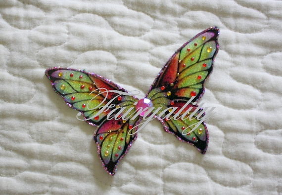 Beautiful Irridescent Fairy wings for BJD/Pukifee/PukiPuki and smaller ...OOAK