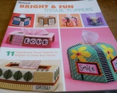 Bright & Fun tissue toppers Plastic Canvas Pattern book