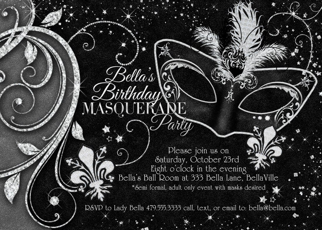 Masquerade Party Invitations Templates Images - Party Invitations ...