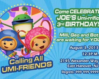 Team umizoomi invitation, diy print team umizoomi invites, personalized team umizoomi birthday invitation, team umizoomi birhday invitations