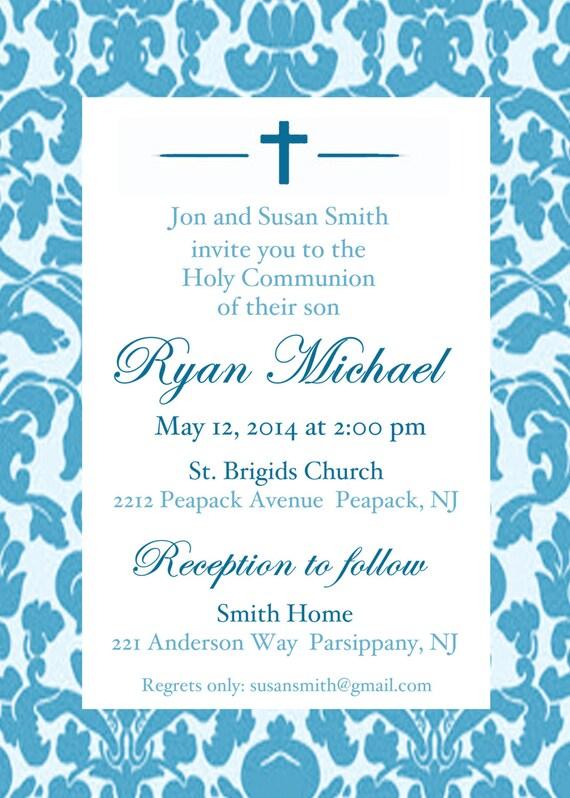 heilige kommunion einladung diy drucken kommunion einladung, Einladungsentwurf