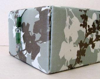 Silk jewelry storage box, decorative storage box or keepsakes box