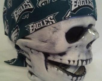 Philadelphia Eagles men's Handmade Skull Cap / hat / du rag / helmet liner
