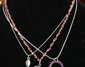 "Houston Texans 17"" Trio Necklace"
