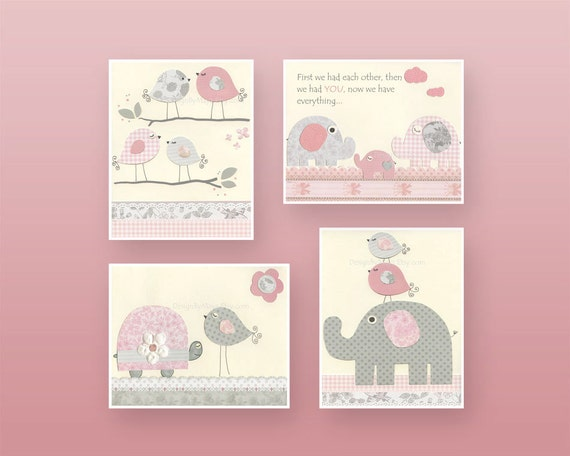 Items similar to baby girl nursery wall art baby girl for Girls wall art