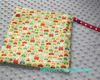 Wet Bag 10 x 10 - Toot Toot Lime - Ready to Ship