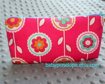 Clearance*** Pencil Case/Cosmetic Bag/ Gadget Case - Happy  - Ready to Ship