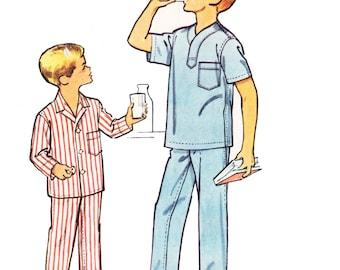 1950s Boy's Pajamas Pattern/ Vintage 50s McCalls Boy's Pajamas Sewing Pattern 5052/ Size 14