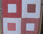 """Patchwork Crib Quilt--""""Pink Sweetheart"""""""