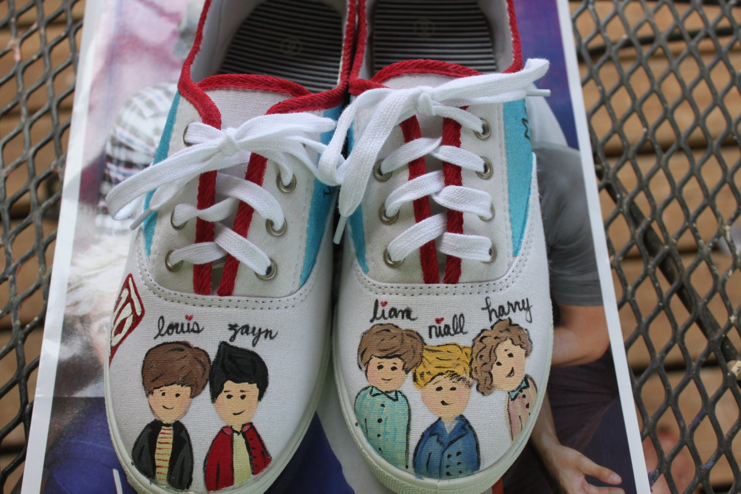 customized one direction canvas shoes or toms painting