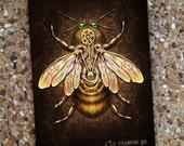 Steampunk Bee - Blank Book Sketch Book Journal